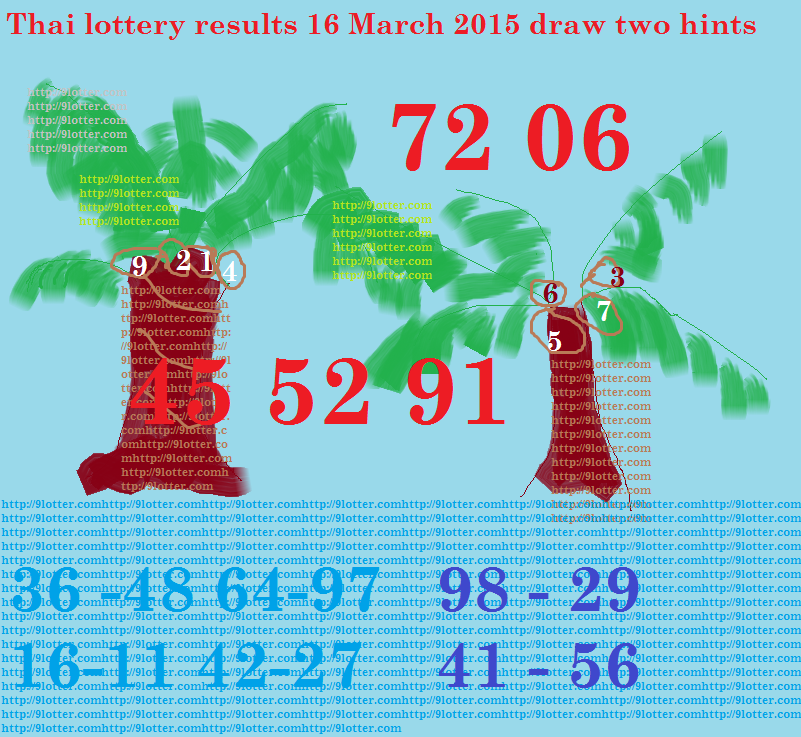 16 march 2015 draw two hint