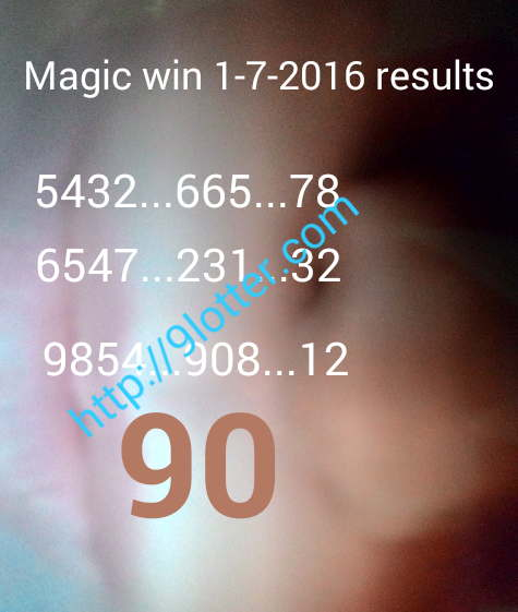 Magic win 1-7-2016 result