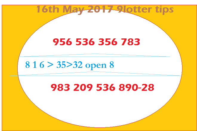 Thai lottery tip paper 16-5-2017