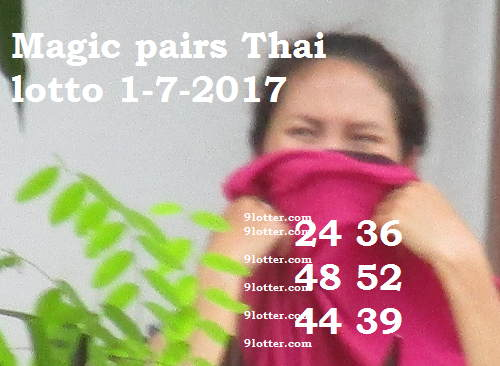 Magic pairs Thai lotto 1-7-2017