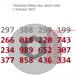 Thai lottery 4pc direct sets 1 October 2017
