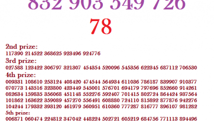 Thai lottery results 1 August 2018 annoumced full chart