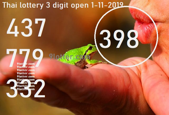 3 digits open Thai lottery 1-11-2019 tip