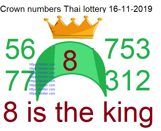 crown numbers for Thai lottery 16-11-2019