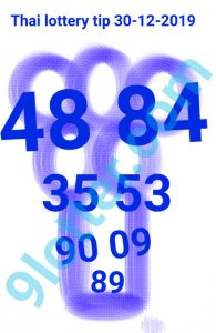 Thai lottery tip 30-12-2019