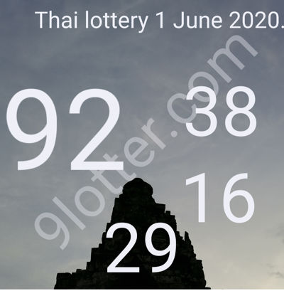 2 digit tips Thai lottery 1 June 2020