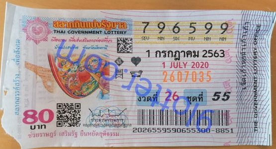 Thai lotto ticket for Thai lottery results 1.08.2020 trend