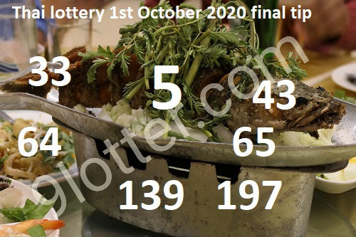 Thai lottery 1-10-2020 October final tip 2020